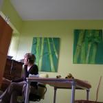 Bambous dans le bureau
