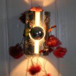 lampe inox avec lezard