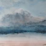 Montagne 3, aquarelle, dim 54 x74 cm