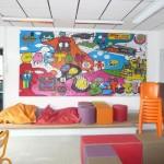 La fresque au foyer des collégiens