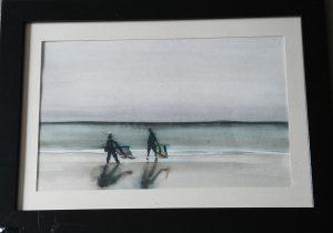 Mer 3, aquarelle, petit format