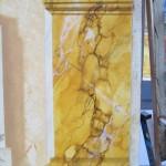 Détail : marbre jaune de Sienne