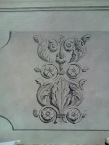 Détail : motif floral