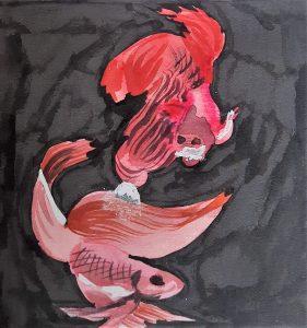 Les poissons rouges