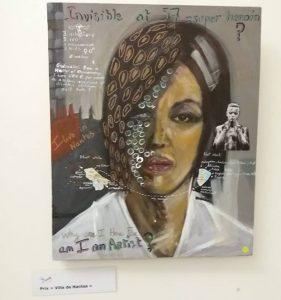 Autoportrait de P Radmilovitch primé au salon d'auomne 2018 de la SAO par la ville de Nantes