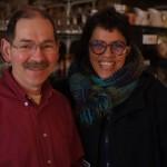 Patrice, notre cafetier hôte et Patricia l'aquarelliste