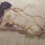 Nu 4, aquarelle, dim 54 x74 cm