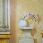 Détail : vase avec orchidée